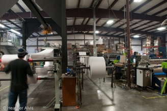 Paper Mill Processing - On site Commercial Photography