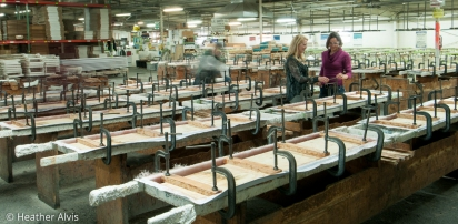 Diving Board Manufacturing - On Site Commercial Photography with Models