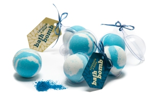 Blue & White Bath Bomb Samples